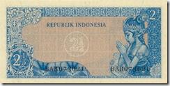Belakang 2,5 rupiah 1961