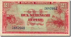 Depan 2,5 rupiah 1951