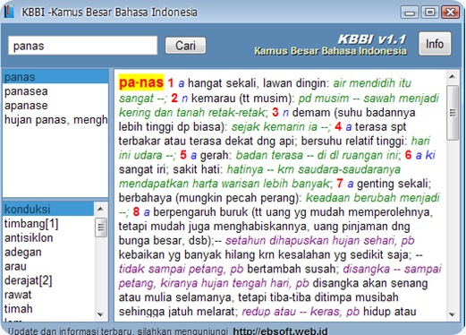 KAMUS BESAR BAHASA INDONESIA wanibesak